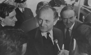 Lord Chalfont in 1967. He caused a diplomatic incident by advising journalists that Britain might seek a free-trade deal with the US if refused membership of the European Common Market.