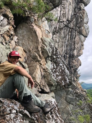 Sandy Boyd, a C4 worker, at the White House Cliffs in Tennessee.