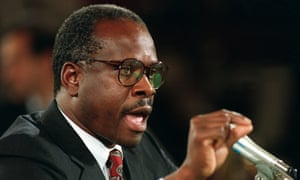 Clarence Thomas denounces and denies Anita Hill's sexual harassment allegations.