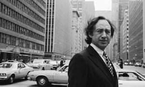 Alvin Toffler, seen here in New York in the 1970s or 80s, forecast the spread of email and the rise of the internet, and popularised the term 'information overload'.