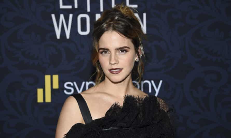 Actress Emma Watson at film premiere.