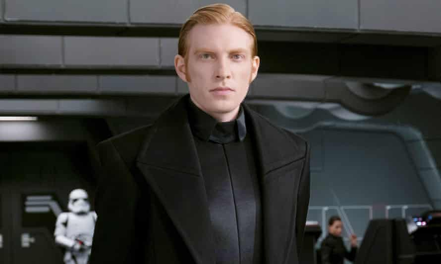 Force to be reckoned with ... Domhnall Gleeson as General Hux in Star Wars: The Last Jedi.