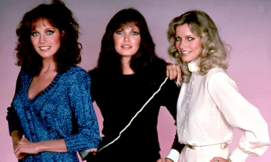 Tanya Roberts, left, with Jaclyn Smith and Cheryl Ladd in Charlie's Angels, 1981.