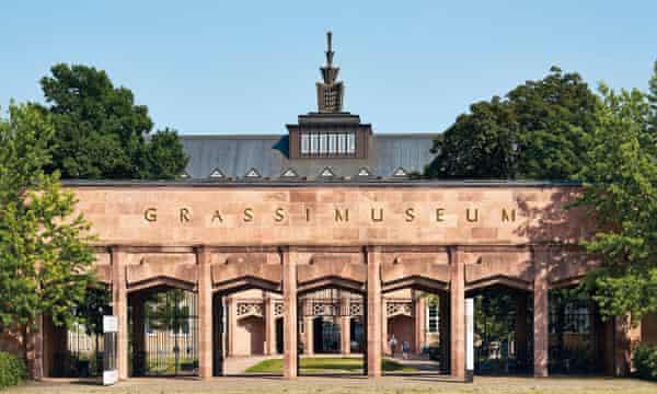 La entrada al Museo de Artes Aplicadas, Museo Grassi, Leipzig
