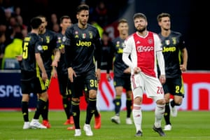 Lasse Schone of Ajax looks dejected after Juventus take the lead.