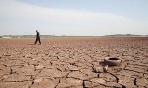 Drought at Rawal Lake in Pakistan during June 2018.