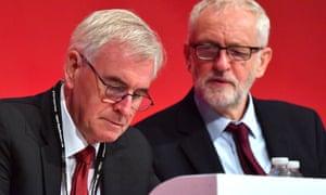John McDonnell, left,  and Jeremy Corbyn