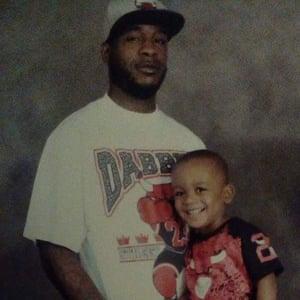 Danny Ray Thomas with his son Damari.