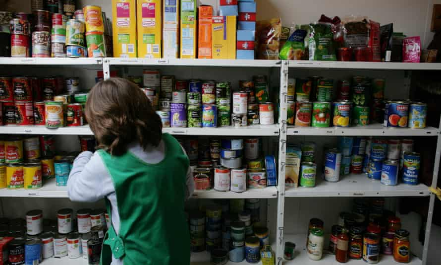 Food Bank,  a charity which distributes donated food to the needy. The food is handed out from this drop in centre Salisbury, Wiltshire.