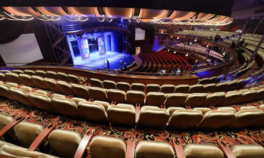 The auditorium inside the Harmony of the Seas cruise ship.