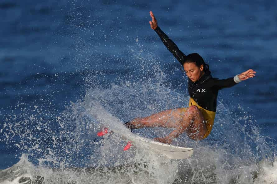 Sally Fitzgibbons is top of the World Surf League standings