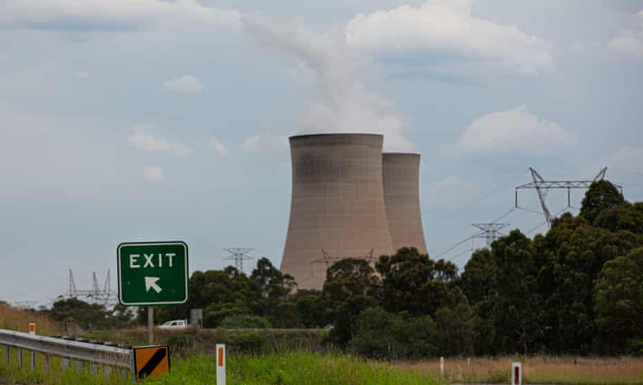 Bayswater Power Station, a bituminous coal-powered thermal power station in Muswellbrook, Upper Hunter Valley, NSW