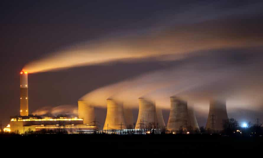 The coal-fired Cottam power station, Nottinghamshire, owned by EDF.