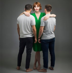Elf Lyons with two men
