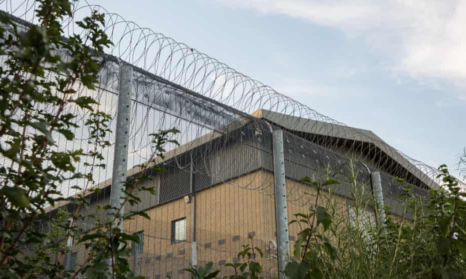 Colnbrook detention centre in London, part of Heathrow Immigration Removal Centre.