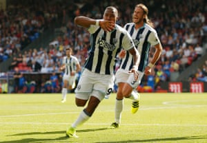 Salomon Rondon breaks the deadlock at Selhurst Park.