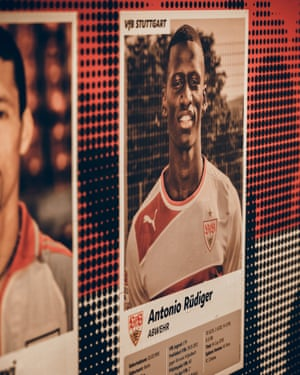 A photo of Chelsea defender and Stuttgart graduate Antonio Rüdiger at the academy