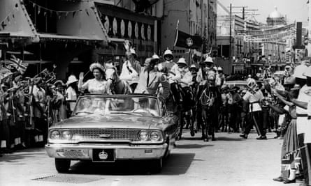 The Queen and Prince Philip on a visit to Barbados in 1966, the year it became independent.