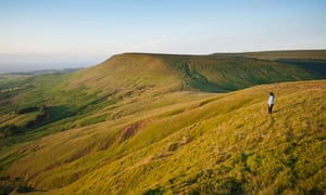 The view from Twmpa towards Hay Bluff.