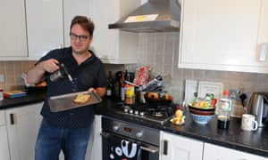 Tim Anderson in his kitchen