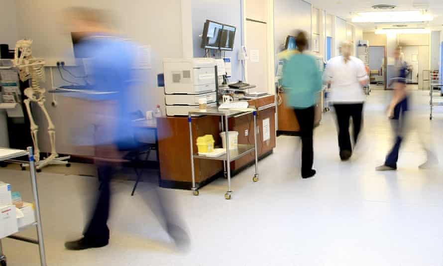 Medical staff in a hospital ward.