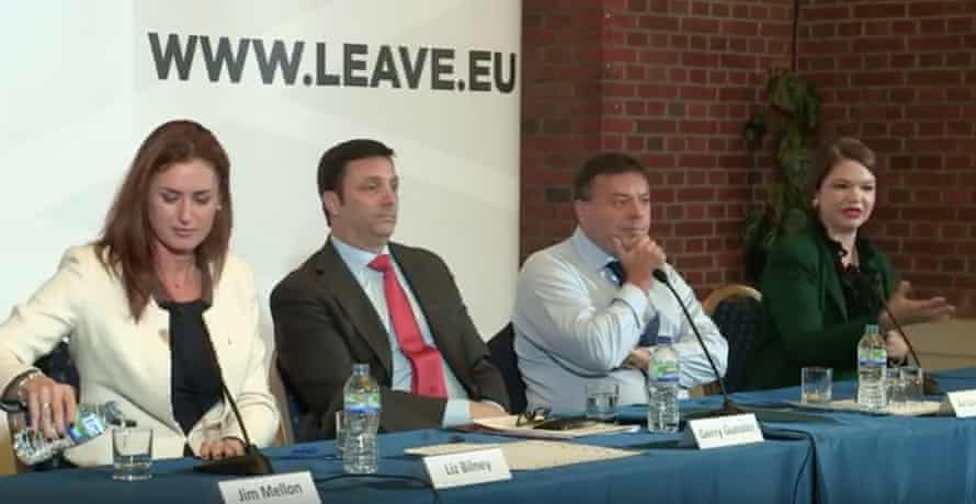 Screenshot of Leave.EU launch event