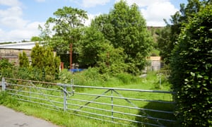 The site of the proposed Walsden care home on land off Deanroyd Rd near Todmorden