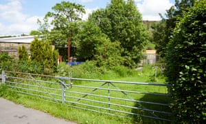 The site of the proposed Walsden care home on land near Todmorden, Calderdale.
