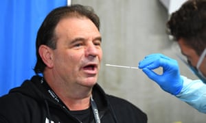 Earlier this year, Victorian CFMEU leader John Setka carried out a Covid-19 test on a construction site.