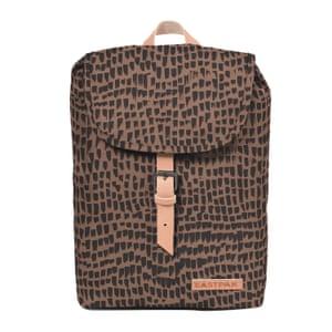 brown and black printed design rucksack Eastpak