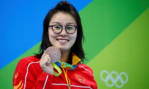 Fu Yuanhui with 100m backstroke bronze medal
