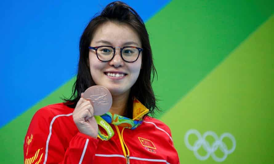 Fu Yuanhui with 100m backstroke bronze medal