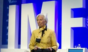 International Monetary Fund managing director, Christine Lagarde