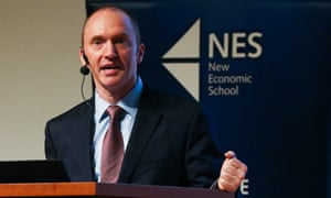 Carter Page speaks in Moscow in 2016.