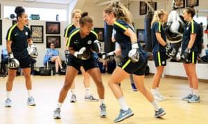 Manchester City women gym training