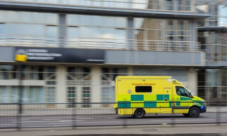 Ambulance passes London Metropolitan University
