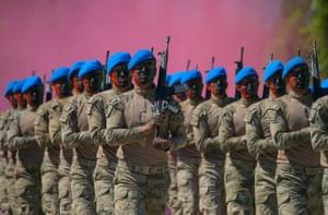 Izmir, Turkey 575 cadets from Yeni Foca Gendarmerie Commando Counter Terrorism Operations School swore oath following counter-terrorism training