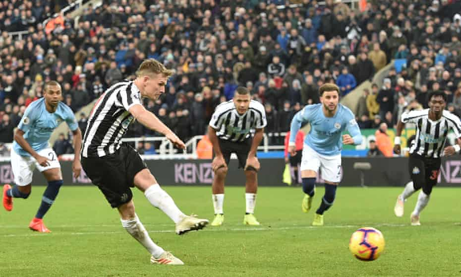 Matt Ritchie's penalty gave Newcastle United a comeback victory after his side had gone 1-0 down within 25 seconds.