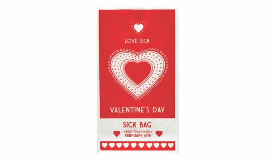 Valentine's Day sick bag