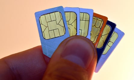 Mobile phone SIM cards