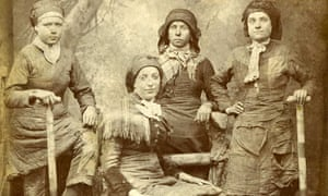 Women from a colliery in Wigan, Lancashire, 1887.