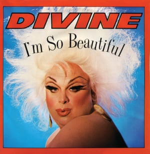 Divine, on the cover of the single I'm So Beautiful in 1984.