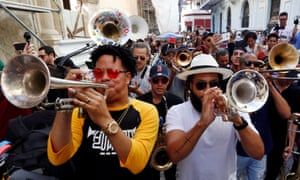 Havana, CubaThe excitement of the New Orleans carnival merged with the traditional Cuban conga in Old Havana.