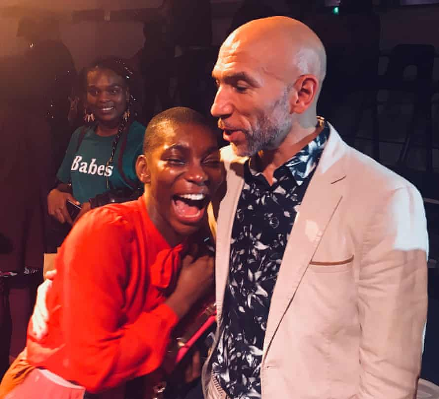 Actor and director Anthony Ekundayo Lennon with actor and writer Michaela Coel