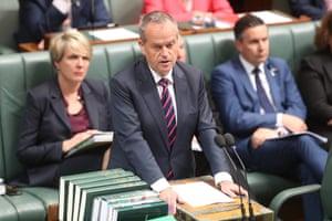 Opposition leader Bill Shorten before question time