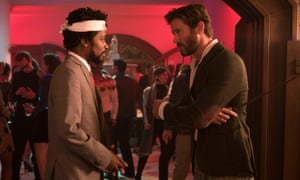 Lakeith Stanfield and Armie Hammer in Sorry to Bother You.