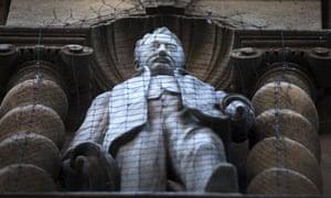 Statue of Cecil Rhodes outside Oriel College, Oxford