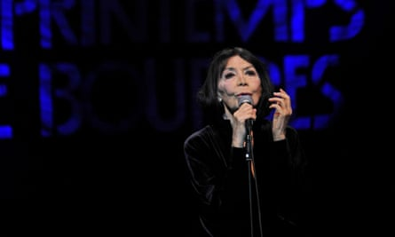 Juliette Greco performing in 2015.