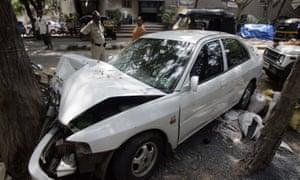 Car crash in Mumbai