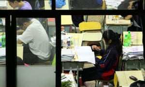 Students revise for the gaokao in Jiaxing, China.